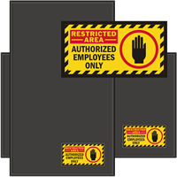 Restricted Area Authorized Employees Only Sign Mat