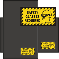 Safety Glasses Required WaterHog Sign Mat