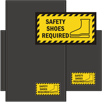 Safety Shoes Required WaterHog Sign Mat