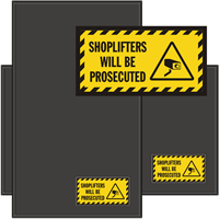 Shoplifters Will Be Prosecuted WaterHog Sign Mat