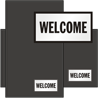 Welcome Classic & Fashion Sign Mat