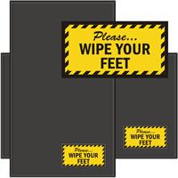 Please Wipe Your Feet WaterHog Sign Mat