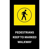 Pedestrians Walkway Safety Message Mat