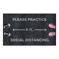 Please Practice Social Distancing Message Mat