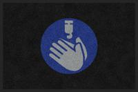 Sanitize Hands Graphic Message ColorStar Safety Mat