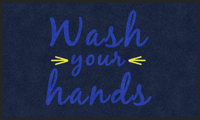 Wash Your Hands Message ColorStar Safety Mat