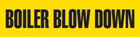 Boiler Blow Down (Yellow) Adhesive Pipe Marker