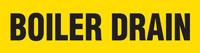 Boiler Drain (Yellow) Adhesive Pipe Marker