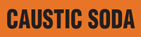 Caustic Soda (Orange) Adhesive Pipe Marker