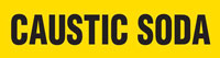 Caustic Soda (Yellow) Adhesive Pipe Marker