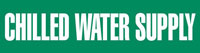 Chilled Water Supply (Green) Adhesive Pipe Marker