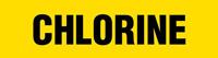 Chlorine (Yellow) Adhesive Pipe Marker