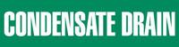 Condensate Drain (Green) Adhesive Pipe Marker