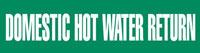 Domestic Hot Water Return (Green) Adhesive Pipe Marker