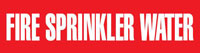 Fire Sprinkler Water (Red) Adhesive Pipe Marker