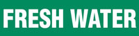 Fresh Water (Green) Adhesive Pipe Marker
