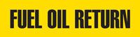 Fuel Oil Return (Yellow) Adhesive Pipe Marker