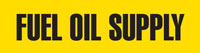 Fuel Oil Supply (Yellow) Adhesive Pipe Marker
