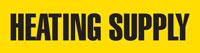 Heating Supply (Yellow) Adhesive Pipe Marker