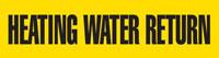 Heating Water Return (Yellow) Adhesive Pipe Marker