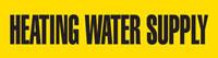 Heating Water Supply (Yellow) Adhesive Pipe Marker