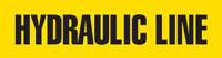 Hydraulic Line (Yellow) Adhesive Pipe Marker