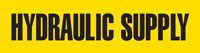 Hydraulic Supply (Yellow) Adhesive Pipe Marker
