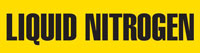 Liquid Nitrogen (Yellow) Adhesive Pipe Marker