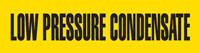 Low Pressure Condensate (Yellow) Adhesive Pipe Marker