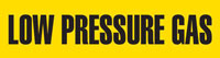 Low Pressure Gas (Yellow) Adhesive Pipe Marker