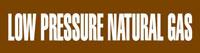 Low Pressure Natural Gas (Brown) Adhesive Pipe Marker