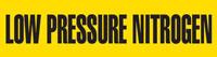 Low Pressure Nitrogen (Yellow) Adhesive Pipe Marker