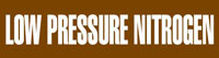 Low Pressure Nitrogen (Brown) Adhesive Pipe Marker