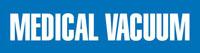 Medical Vacuum (Blue) Adhesive Pipe Marker