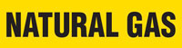 Natural Gas (Yellow) Adhesive Pipe Marker