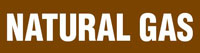 Natural Gas (Brown) Adhesive Pipe Marker