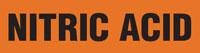 Nitric Acid (Orange) Adhesive Pipe Marker