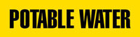 Potable Water (Yellow) Adhesive Pipe Marker