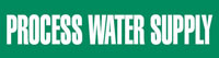 Process Water Supply (Green) Adhesive Pipe Marker