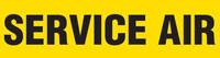 Service Air (Yellow) Adhesive Pipe Marker