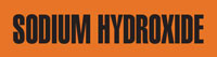 Sodium Hydroxide (Orange) Adhesive Pipe Marker