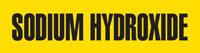 Sodium Hydroxide (Yellow) Adhesive Pipe Marker
