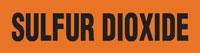 Sulfur Dioxide (Orange) Adhesive Pipe Marker
