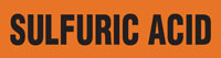 Sulfuric Acid (Orange) Adhesive Pipe Marker