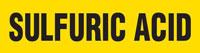 Sulfuric Acid (Yellow) Adhesive Pipe Marker