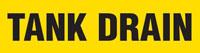 Tank Drain (Yellow) Adhesive Pipe Marker