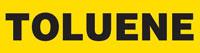 Toluene (Yellow) Adhesive Pipe Marker