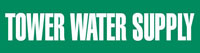 Tower Water Supply (Green) Adhesive Pipe Marker