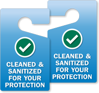 Cleaned And Sanitized For Your Protection Door Hanger