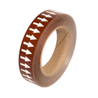"""Brown Background with White Arrows Tape - 1"""" x 54'"""